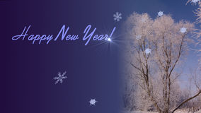 Saludos del Año Nuevo Fotos de archivo libres de regalías