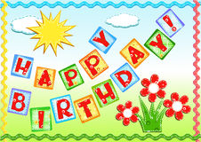 Saludos del cumpleaños. Imágenes de archivo libres de regalías