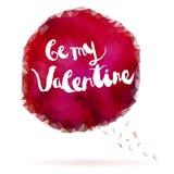 Saludos del día de tarjetas del día de San Valentín Fotos de archivo libres de regalías