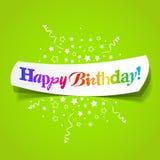 Saludos del feliz cumpleaños Fotografía de archivo