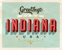 Saludos del vintage de Indiana Vacation Card ilustración del vector