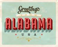Saludos del vintage de la tarjeta de vacaciones de Alabama ilustración del vector