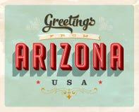 Saludos del vintage de la tarjeta de vacaciones de Arizona ilustración del vector