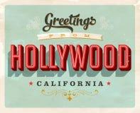 Saludos del vintage de la tarjeta de vacaciones de Hollywood libre illustration