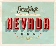 Saludos del vintage de Nevada Vacation Card ilustración del vector