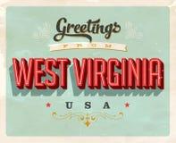 Saludos del vintage de Virginia Vacation Card del oeste libre illustration