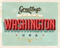 Saludos del vintage de Washington Vacation Card stock de ilustración