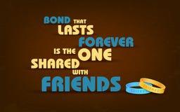 Saludos felices del día de la amistad Foto de archivo