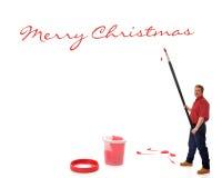 Saludos gigantes de la Navidad Imágenes de archivo libres de regalías