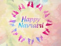 Saludos hindúes indios felices del festival de Navratri fotografía de archivo
