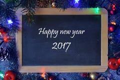 Saludos por el Año Nuevo 2017 Fotografía de archivo