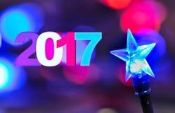 Saludos por el Año Nuevo 2017 Imagenes de archivo