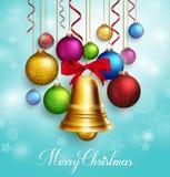saludos realistas de la Feliz Navidad 3D con la ejecución stock de ilustración