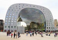 Saluhall i Rotterdam Arkivbild