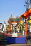 Salung Luang en el festival de Songkran en la provincia de Lampang septentrional de Tailandia Fotos de archivo libres de regalías