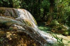Saluopa vattenfall i Tentena Royaltyfria Bilder
