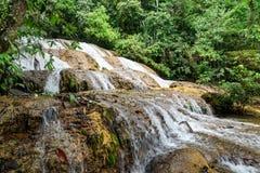 Saluopa vattenfall i Tentena Royaltyfri Bild