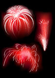 salut красного цвета пожара Стоковое фото RF
