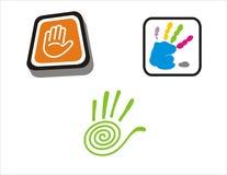 Salut-Cinq mains illustration stock