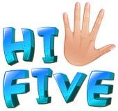 Salut-cinq une illustration avec une paume illustration stock