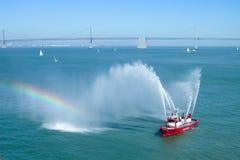 Salut de bateau-pompe Photo stock