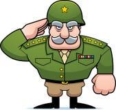 Salut général militaire de bande dessinée Photo stock