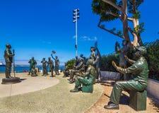 Salut national aux militaires Images libres de droits