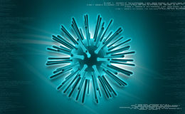 Salut virus image stock