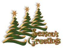 Salutation abstraite d'arbres de Noël illustration de vecteur