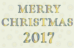 Salutation avec le Joyeux Noël Photo stock