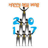 Salutation créative de nouvelle année pour 2017 Photo libre de droits