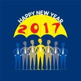 Salutation créative de nouvelle année pour 2017 Image stock