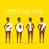 Salutation créative de nouvelle année pour 2017 Images stock