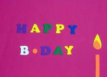 Salutation d'anniversaire Photographie stock libre de droits