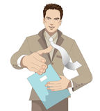 Salutation d'homme d'affaires illustration stock