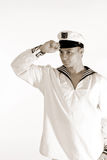 Salutation d'homme de marin Images libres de droits