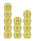 Salutation d'an neuf heureux Image stock