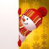 Salutation de bonhomme de neige d'an neuf illustration stock