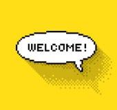 Salutation de bulle avec l'accueil ! illustration de vecteur