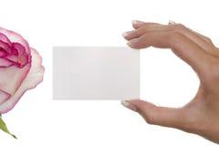 salutation de carte Image stock