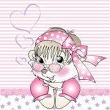Salutation de fille d'écureuil Image stock