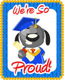 Salutation de graduation illustration de vecteur