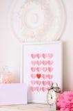 Salutation de jour de valentines dans le rétro style Images libres de droits