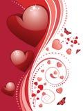 Salutation de jour de Valentins avec le coeur 3d Photos stock