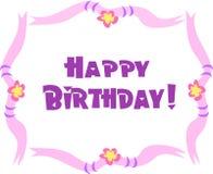 Salutation de joyeux anniversaire illustration libre de droits