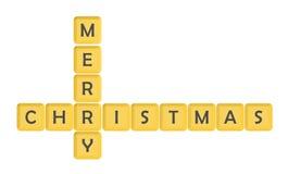 Salutation de Joyeux Noël Photographie stock libre de droits