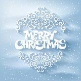 Salutation de Joyeux Noël Image libre de droits