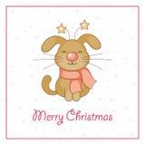 Salutation de Joyeux Noël Images libres de droits
