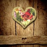 Salutation de la carte rustique pour des valentines ou le jour du ` s de mère Photo stock
