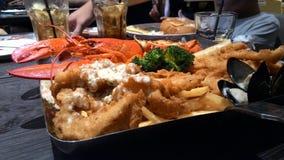 Salutation de luxe suprême de saison de homard Images stock